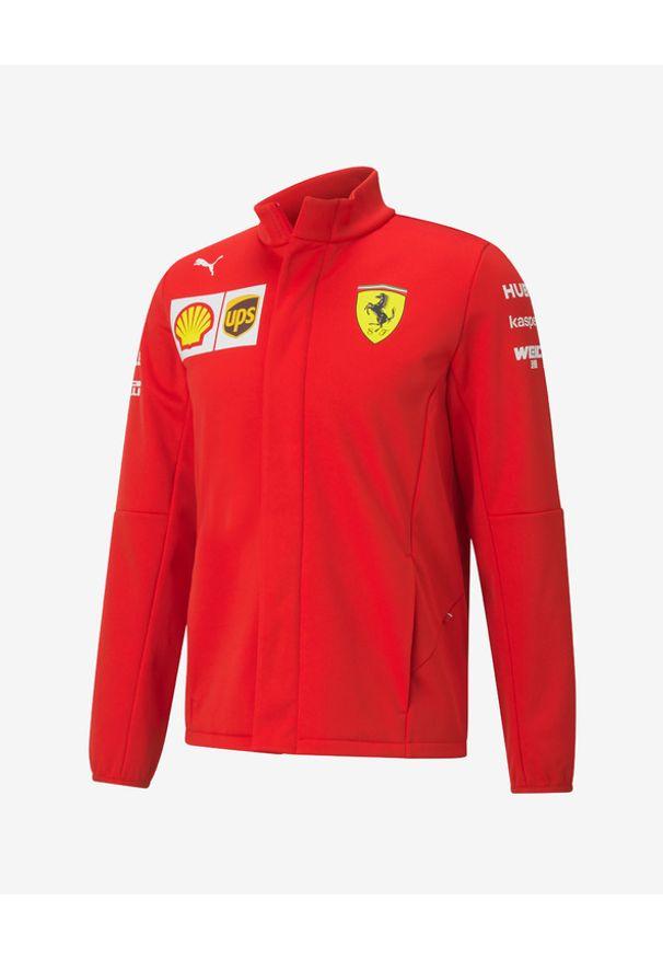 Czerwona bluza Puma bez kaptura, z nadrukiem, długa