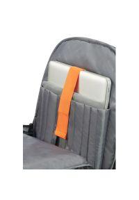 Czarny plecak na laptopa AMERICAN TOURISTER w paski, biznesowy