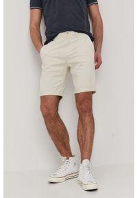 Kremowe szorty Tom Tailor gładkie, casualowe, na co dzień