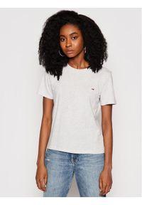Tommy Jeans T-Shirt C Neck DW0DW09198 Szary Regular Fit. Kolor: szary