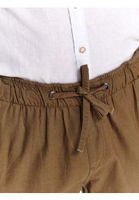 Zielone spodnie TOP SECRET casualowe, na lato