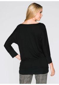 Shirt oversize bonprix czarny. Kolor: czarny