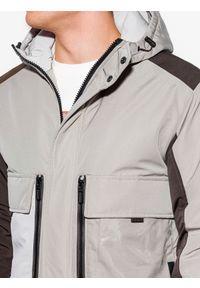 Beżowa kurtka Ombre Clothing na zimę