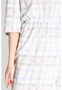 Sukienka Figl w kratkę, asymetryczna, casualowa