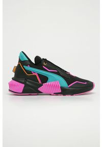 Czarne buty sportowe Puma na średnim obcasie, na obcasie