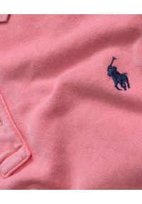 Ralph Lauren - RALPH LAUREN - Koszulka Polo różowa Slim Fit. Okazja: na co dzień. Typ kołnierza: polo. Kolor: wielokolorowy, fioletowy, różowy. Materiał: bawełna. Styl: casual, elegancki