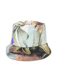 OFF-WHITE - Dwustronny kapelusz z logo. Kolor: biały. Materiał: materiał. Wzór: aplikacja. Sezon: lato. Styl: sportowy