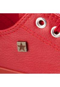Czerwone trampki Big-Star na co dzień, casualowe, z cholewką