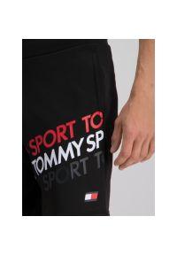 Czarne spodenki sportowe Tommy Sport