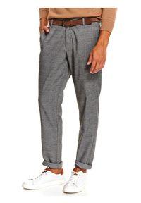 Szare spodnie TOP SECRET w kolorowe wzory, na jesień