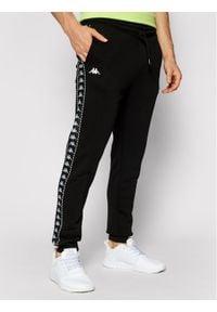 Kappa Spodnie dresowe Ireneus 309010 Czarny Regular Fit. Kolor: czarny. Materiał: dresówka