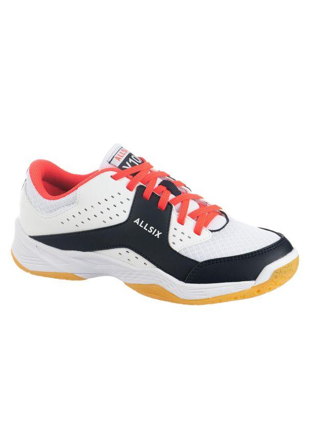 ALLSIX - Buty do siatkówki dla dzieci Allsix V100 sznurowane. Kolor: biały, niebieski, różowy, czerwony, wielokolorowy. Materiał: materiał. Sport: siatkówka