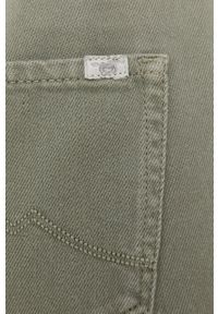 Mustang - Jeansy bawełniane Moms Paperbag. Kolor: zielony