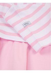 Różowa sukienka Polo Ralph Lauren na co dzień, casualowa, prosta, polo