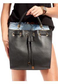 Czarna torebka ROVICKY duża, w kolorowe wzory, klasyczna