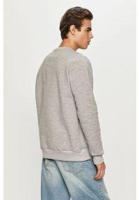Prosto. - Prosto - Bluza bawełniana. Okazja: na co dzień. Kolor: szary. Materiał: bawełna. Wzór: nadruk. Styl: casual