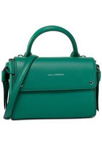 Zielona torebka klasyczna Karl Lagerfeld klasyczna