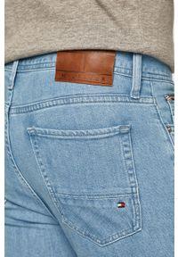 Niebieskie jeansy TOMMY HILFIGER gładkie