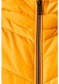 Żółta kurtka Guess Jeans z kapturem