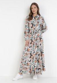 Born2be - Ciemnobeżowa Sukienka Euphyphe. Kolor: beżowy