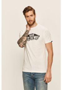 Vans - T-shirt. Kolor: biały. Materiał: dzianina. Wzór: nadruk