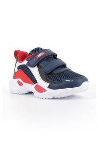 Niebieskie buty sportowe Primigi na rzepy, z okrągłym noskiem