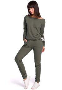Brązowe spodnie dresowe MOE