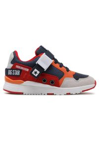 Big-Star - Sneakersy BIG STAR - HH374163 Navy/Red. Kolor: czerwony. Materiał: skóra ekologiczna, materiał, skóra