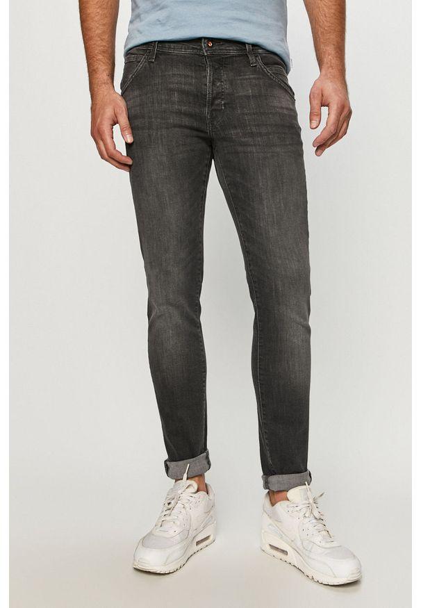 Jack & Jones - Jeansy Glenn. Kolor: szary. Materiał: jeans