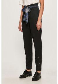 Czarne spodnie materiałowe Desigual