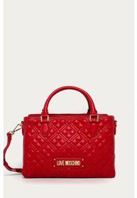 Czerwona shopperka Love Moschino skórzana