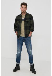 Tom Tailor - T-shirt bawełniany. Okazja: na co dzień. Kolor: zielony. Materiał: bawełna. Wzór: nadruk. Styl: casual