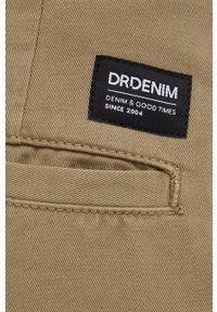 Dr. Denim - Spodnie bawełniane. Okazja: na co dzień. Kolor: zielony. Materiał: bawełna, denim. Styl: casual
