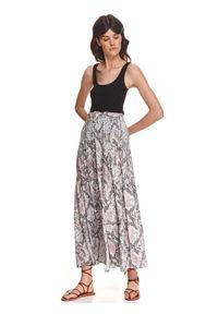 TOP SECRET - Długa spódnica w wężowy wzór. Kolor: beżowy. Materiał: tkanina, materiał. Długość: długie. Sezon: lato. Styl: wakacyjny