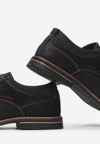 Born2be - Czarne Półbuty Delovien. Nosek buta: okrągły. Kolor: czarny. Materiał: skóra. Szerokość cholewki: normalna. Wzór: aplikacja. Obcas: na obcasie. Styl: elegancki. Wysokość obcasa: niski #3