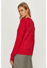 Różowy sweter Desigual na co dzień, casualowy, z długim rękawem, długi #5
