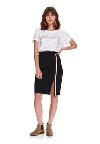 Czarna spódnica TOP SECRET w kolorowe wzory, casualowa, na wiosnę