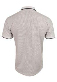 Pako Jeans - Biało-Czarna Koszulka POLO z Lamówką, Męska, Krótki Rękaw -PAKO JEANS- T-shirt, w Kropki, Groszki. Okazja: na co dzień. Typ kołnierza: polo. Kolor: czarny, biały, wielokolorowy. Materiał: bawełna. Długość rękawa: krótki rękaw. Długość: krótkie. Wzór: kropki, grochy. Styl: casual