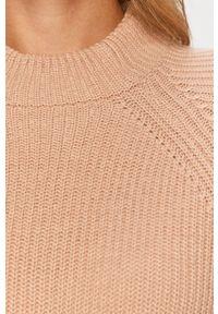 Różowy sweter only casualowy, z okrągłym kołnierzem, na co dzień #5