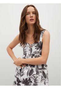 mango - Mango Sukienka codzienna Femme 87039007 Biały Regular Fit. Okazja: na co dzień. Kolor: biały. Typ sukienki: proste. Styl: casual