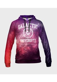 MegaKoszulki - Bluza damska fullprint z kapturem Galactic University. Typ kołnierza: kaptur. Materiał: dzianina, dresówka