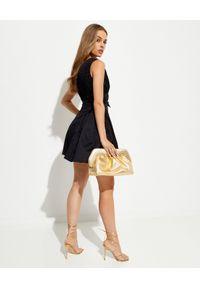 SELF PORTRAIT - Czarna sukienka mini z kokardami. Typ kołnierza: kokarda. Kolor: czarny. Materiał: bawełna. Typ sukienki: rozkloszowane, dopasowane. Styl: elegancki. Długość: mini
