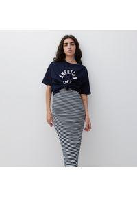 Reserved - Dzianinowa spódnica - Wielobarwny. Materiał: dzianina