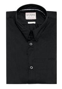 Guess Koszula Stretch M1RH25 W7ZK1 Czarny Regular Fit. Kolor: czarny
