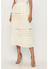 Biała spódnica Miss Sixty klasyczna, z podwyższonym stanem