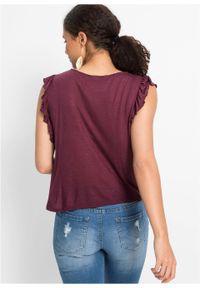 Fioletowa bluzka bonprix na lato