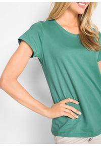 Shirt z okrągłym dekoltem (5 szt.), krótki rękaw bonprix jasna limonka + zielony szałwiowy + kobaltowy + jasnoszary melanż + czarny. Kolor: żółty. Materiał: jersey. Długość rękawa: krótki rękaw. Długość: krótkie. Wzór: melanż #3