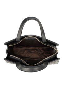 Czarny kuferek Wittchen elegancki, z aplikacjami, pikowany