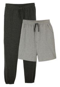 Szare spodnie bonprix melanż, krótkie