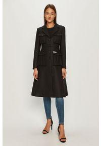 Czarny płaszcz Miss Sixty bez kaptura, klasyczny